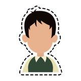безликое изображение значка шаржа человека Стоковая Фотография