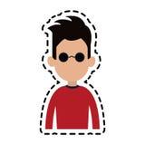 безликое изображение значка шаржа человека Стоковое Фото