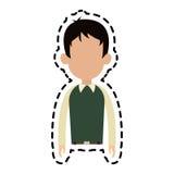 безликое изображение значка шаржа человека Стоковое Изображение