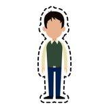 безликое изображение значка шаржа человека Стоковые Фото