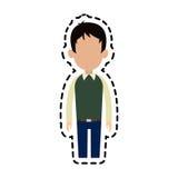 безликое изображение значка шаржа человека Стоковые Изображения