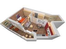 Без крыши внутренний план иллюстрация штока