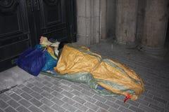 Бездомные как на улице #7 Шанхая Стоковые Изображения