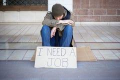 Бездомные как прося призрение Стоковые Изображения RF
