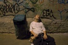 Бездомный молодой человек - 03 Стоковые Изображения