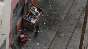 Бездомный переулок человека