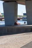 Бездомный спать Стоковое Изображение RF
