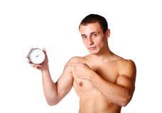 без рубашки ванты часов красивое Стоковое Изображение RF