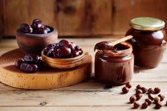 Без сахара шоколада фундука распространенное датой стоковые фотографии rf