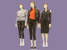 3 без сокращений женских манекена Стоковое фото RF