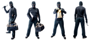 4 без сокращений портрета похитителя в маске стоковые изображения rf