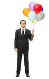 Без сокращений портрет бизнесмена с воздушными шарами Стоковые Фото