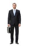 Без сокращений портрет бизнесмена с случаем Стоковые Изображения RF