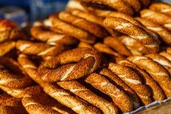 Бейгл с семенами сезама Стоковое фото RF
