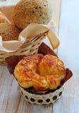 Бейгл сыра хлеба для завтрака Стоковые Изображения