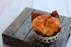 Бейгл сыра хлеба для завтрака Стоковая Фотография