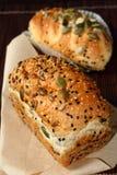 Бейгл сыра хлеба для завтрака Стоковая Фотография RF
