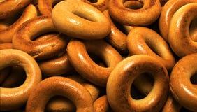 Бейгл Placer румяные очень вкусные продукты изображения конструкции хлебопекарни Стоковая Фотография