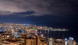Бейрут и горизонт Jounieh стоковые фотографии rf