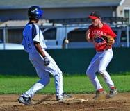 бейсбола сейф сперва Стоковые Фотографии RF