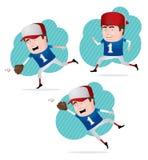 бейсболист действия Стоковое Изображение