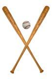 бейсбольные бита шарика Стоковое Фото