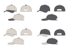 бейсбольные кепки Стоковое фото RF