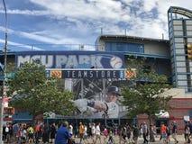 Бейсбольный стадион MCU на острове кролика в Нью-Йорке Стоковые Фото