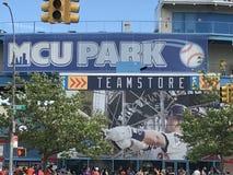 Бейсбольный стадион MCU на острове кролика в Нью-Йорке Стоковое Изображение RF