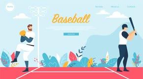 Бейсбол на конкуренции чемпионата, игре спорта бесплатная иллюстрация