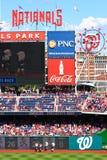 Бейсбол - участвовать в гонке талисманов соотечественников Вашингтон Стоковая Фотография RF