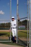 бейсбол шарика кончается сезон игрока Стоковая Фотография