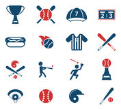 Бейсбола значки просто Стоковое фото RF