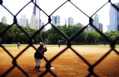 Бейсбол в Central Park Нью-Йорке Стоковое Изображение RF