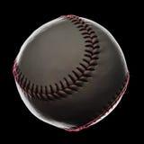Бейсбол изолированный на черной предпосылке Стоковое Изображение