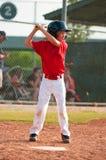 Бэттер бейсбола Малой лиги Стоковые Фото