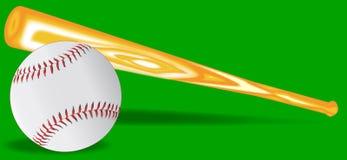 Бейсбол и летучая мышь бесплатная иллюстрация