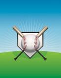Бейсбол и иллюстрация предпосылки летучих мышей Стоковая Фотография RF