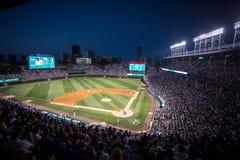 Бейсбол на поле Wrigley Стоковое Фото