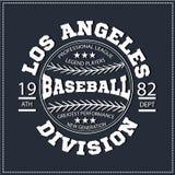 Бейсбол спорта разделения Лос-Анджелеса коллежа, графики футболки Стоковая Фотография RF