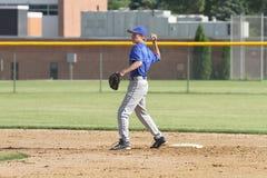 Бейсбол университетской спортивной команды средней школы Стоковая Фотография