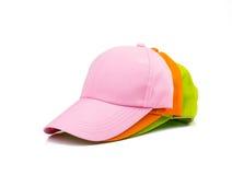 3 бейсбольной кепки изолированной на белизне Стоковое Изображение