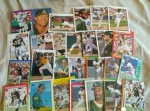 Бейсбольные карточки Стоковые Изображения