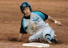 Бейсбольный матч мальчиков средней школы Стоковая Фотография RF