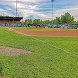 Бейсбольный матч низшей лиги Стоковые Фото