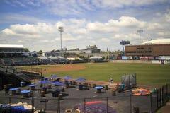 Бейсбольный стадион на дворе гавани, стадионе Bluefish, Бриджпорте, Коннектикуте Стоковое Изображение