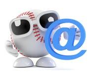 бейсбол 3d имеет адрес электронной почты Стоковая Фотография