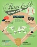 Бейсбол Infographics иллюстрация вектора
