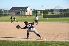 Бейсбол U14 Малой лиги Стоковое Фото