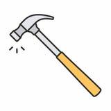 Бейте икону молотком Стоковое Изображение RF